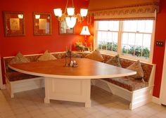 built in kitchen booth | ... beadboard built in kitchen booth seating dining room traditional