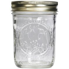Ball® Regular Mouth Mason Jar ($1.29) ❤ liked on Polyvore featuring home, kitchen & dining, food storage containers, fillers, food, ball jars, ball canning jars, ball preserving jars and food jar