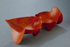 "�""Ocean Harmony, Double View""  Sandal wood-Hawaii - 5 x 13 x 6 inches, (very rare Hawaiian wood)"