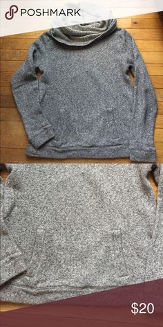 Cowl neck sweatshirt Super comfortable sweatershirt with front pocket. Perfect for those summer nights! J. Crew Tops Sweatshirts & Hoodies