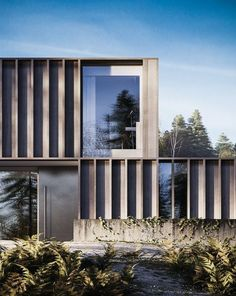 Architecture Inspiration // Carey House by Henry Goss Architecture Design, Architecture Visualization, Facade Design, Residential Architecture, Contemporary Architecture, Exterior Design, Contemporary Design, Pavilion Architecture, Gothic Architecture