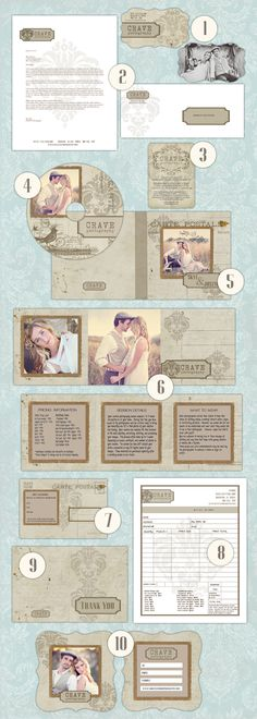 Shabby vintage maketing/branding digital template set      www.cravemydesign.com