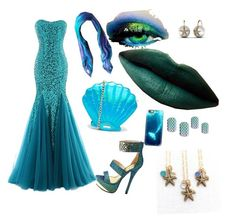 """haloween mermaid"" by jjbear on Polyvore featuring Charlotte Russe, Casetify and Skinnydip"
