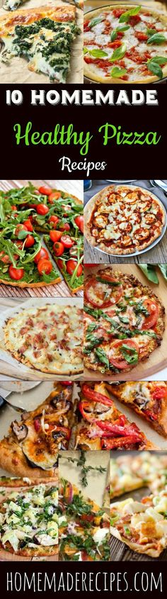 10 Homemade Healthy Pizza Recipes | Go Healthier And  Don't Sacrifice The Taste, With These Gluten Free And Delicious Pizza Recipes That Has All The Flavor Your Looking For! by Homemade Recipes at  http:∕∕homemaderecipes.com∕healthy-pizza-recipes∕