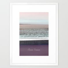 Ocean Dream II Framed Art Print by Pia Schneider [atelier COLOUR-VISION] #photography #coloring #typography #art #artprint #framed #signature #vintage #softcolored #piaschneider #ateliercolourvision #giftidea #ocean #mediteran #sea #crete #violet #impressionism #nature #beach #white #summer #home #walldecor #europe #kunst #kreta