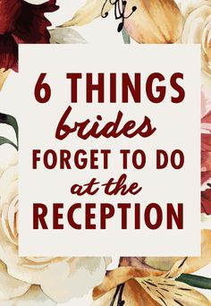 You've said I do and now it's time to celebrate with your nearest and dearest. The reception goes by in the blink of an eye, so it's normal there might be a few things you just might forget to do during the party. Luckily, we're here to remind you about six things you should try to remember to do for a truly memorable reception.