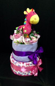 2 Tier Giraffe topper cake