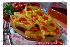FOCACCIA CON POMODORINI fragolaelettrica.com Le ricette di Ennio Zaccariello #Ricetta