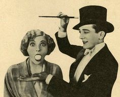 Credit: A magician and his assistant, (b/w photo), French Photographer, century) / Private Collection / © The Advertising Archives / The Bridgeman Art Library Vintage Witch, Vintage Circus, Vintage Tags, Magicians Assistant, Magic Illusions, Advertising Archives, Street Magic, Halloween Banner, Halloween 2019