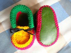 Rasta Baby booties Hand crocheted 69 months by CrochetKat1952, £5.50