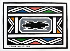 Esther Mahlangu African Patterns, African Art, Repeat, Symbols, Fresh, Abstract, Architecture, Drawings, Ideas