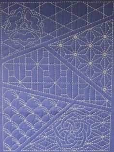 Sashiko Stitching Patterns | Sashiko sampler of patterns