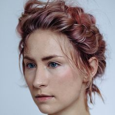 Gina, producer and illustrator washed with @purelyperfectproducts cleansing creme #Hairstorystudio #illustrator #hair #pink #cleansingcreme #braid