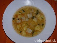 Fotorecept: Sýta karfiolová polievka s haluškami