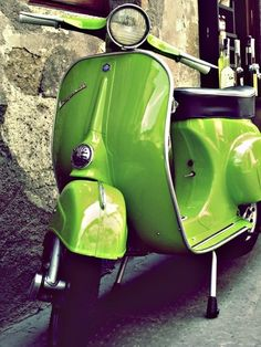 Lime Vespa!