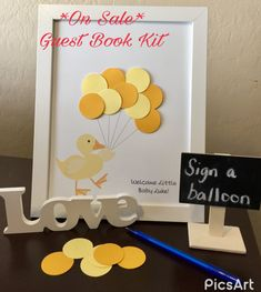 SALE  Rubber Ducky Baby Shower Guest Book Alternative  Guest