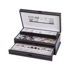 Mele & Co. Tory Wooden Jewelry Box in Black Distressed Finish - BedBathandBeyond.com