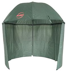 Outdoor Carp Fishing Camping 2.5M Top Tilt Umbrella Brolly Shelter With Zipped Side Dark Green FU-018 New