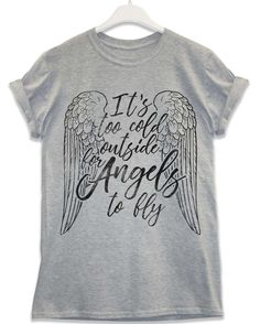 Too Cold for Angels - Lyric Quote T Shirt - Sport Grey / XL