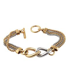Look at this Two-Tone Link Bracelet on #zulily today!