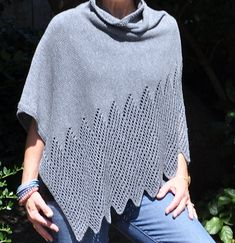 Knitters of all levels can make this stylish poncho creating a satisfying experience to knit.