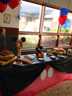 Mickey Mouse Club House Dessert Table
