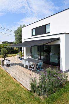 Porch And Balcony, Backyard Shade, Retractable Awning, Home Renovation, Garden Design, Pergola, Sweet Home, Home And Garden, Inspiration