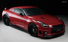 Wald International Red Maroon Nissan GT R Wallpaper