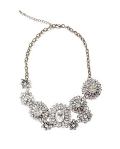 Hey, I found this really awesome Etsy listing at https://www.etsy.com/listing/202515158/white-jewel-crystal-statement-necklace