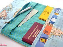 Reiseetui Flugticket, Reisepass, Kreditkarten