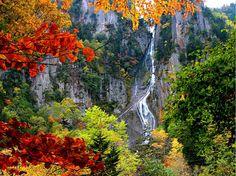 가을의 폭포