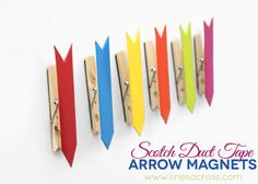 Lines Across Reviews: Colorful Scotch® Duct Tape Arrow Magnets