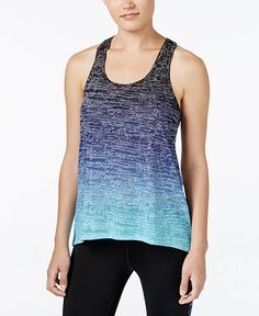 19.99 Ideology Knot-Back Dip-Dyed Tank Top, Only at Macy's - Activewear - Women - Macy's