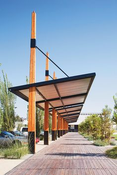 Unbelievable Tips: Canopy Facade truck canopy tent.Backyard Canopy Pergola Cover outdoor canopy back yards. Landscape Structure, Timber Structure, Shade Structure, Landscape Design, Backyard Canopy, Garden Canopy, Canopy Outdoor, Hotel Canopy, Canopy Tent