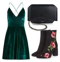 """Untitled #3866"" by evalentina92 ❤ liked on Polyvore featuring Boohoo, Givenchy and Topshop"