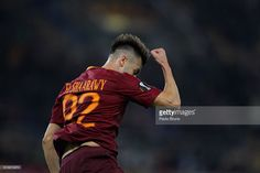 Stephan El Shaarawy of AS Roma celebrates after scoring the team's first goal during the UEFA Europa League match between AS Roma and FK Austria Wien at Olimpico Stadium on October 20, 2016 in Rome.
