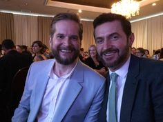 Bryan Fuller and Richard Armitage at the Saturn Awards 2015