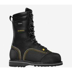 2W0P Lacrosse Mens Longwall Ii 10In 200G Steel Toe Boots Good Value Adjustable
