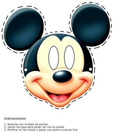 Printable mickey mouse mask-Images and pictures to print