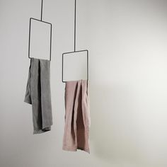IACO is a handcrafted iron hanger, square and rectangular shaped, that stuns from the ceiling. The combination with three or four IACOs will reach an up and down effect that will not go unnoticed. Minimal Decor, Minimal Design, Ceiling Hangers, Interior Decorating, Interior Design, Towel Rail, Steel Furniture, Closet Storage, Bath Accessories