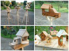Adorable Pallet Birdhouses Plus Birdfeeders / Mes Créations écologiques