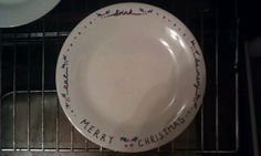 Sharpie decorated Christmas plate.