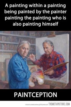 A painting within a painting…