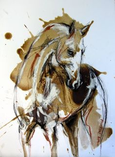 A Fine horse Watercolor Horse, Watercolor Animals, Watercolor Paintings, Pastel Paintings, Watercolour, Horse Drawings, Animal Drawings, Art Drawings, Horse Sketch