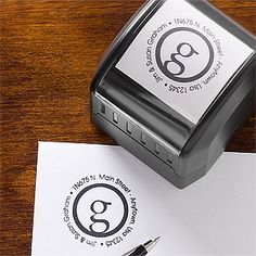 This site has the cutest designs for their return address stamps and they're way more affordable than most of the other sites out there ... these stamps are great Wedding Gift ideas because they save couples a ton of time and money when they're sending out their thank you notes!