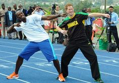 Prince Harry embarked on his first official solo tour, hitting the Caribbean, Latin America and South America as a royal ambassador in celebration of his grandmother's Diamond Jubilee. Harry struck a pose with Olympic track star Usain Bolt during his stop in Jamaica on March 6, 2012.