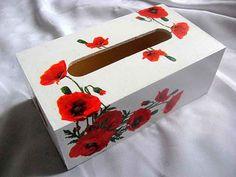 Paper Napkins, Christmas Presents, Poppy, Decorative Boxes, Rose, Flowers, Handmade, Design, Home Decor