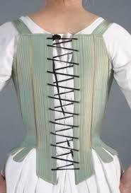 """Résultat de recherche d'images pour """"18th century corsets Ecru linen ladies whalebone"""""""