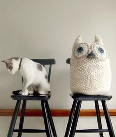 super cute owl knit project. from ravelry, purlsoho