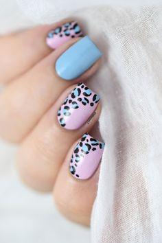 amazing nail art ideas that will inspire you 2020 nail arts spring 2020 inspiring nail art ideas 2020 new york nails green christmas nails top art nails black and gold nail art Pink Leopard Nails, Bright Pink Nails, Cute Acrylic Nails, Cute Nails, Gel Nails, Nail Polish, Pastel Nail Art, Stiletto Nails, Leopard Nail Designs